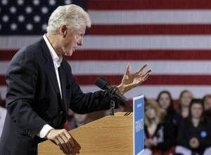 Bill Clinton campaigns for President Obama.