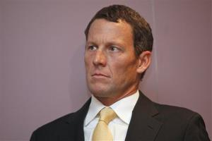 In this Feb. 28, 2011 file photo,Lance Armstrong sits during a news conference at the Cedars-Sinai Hospital in Los Angeles.