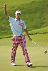 Guan Tianlang of China during the final round of the Asia-Pacific Amateur Championship golf at Amata Spring Country Club, in Chonburi, Thailand, Sunday, Nov. 4, 2012.