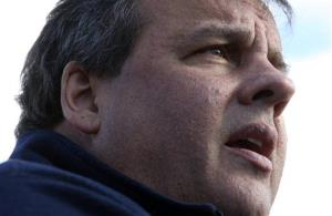 Gov. Chris Christie speaks at a news conference on in Little Ferry, New Jersey on the weekend.
