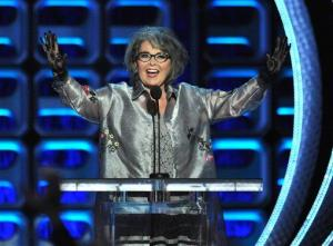 Roseanne Barr appears on stage at the Comedy Central Roast of Roseanne at the Hollywood Palladium on Saturday, Aug. 4, 2012, in Los Angeles.