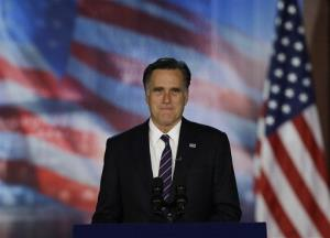 Mitt Romney arrives to his election night rally, Wednesday, Nov. 7, 2012, in Boston.