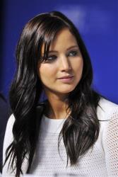 Actress Jennifer Lawrence listens during the press conference for the film Silver Linings Playbook during the 2012 Toronto International Film Festival in Toronto on Sunday, Sept. 9, 2012.
