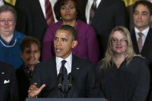 President Obama speaks about the economy and the deficit Friday at the White House.
