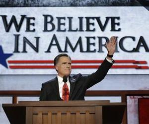 Mitt Romney addresses the Republican National Convention in Tampa, Fla.