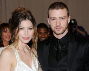 This May 3, 2010 file photo shows Jessica Biel and Justin Timberlake, who got hitched last month, and then showed up in New York yesterday to pitch in with Sandy relief.