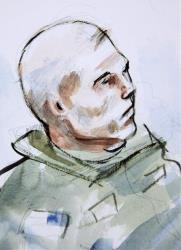 Army Staff Sgt. Robert Bales is shown in the early hours of Saturday, Nov. 10, 2012 during his preliminary military hearing at Joint Base Lewis McChord, Washington.