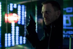 Daniel Craig as James Bond in the action adventure film, Skyfall.