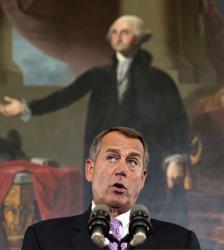 In this Nov. 7, 2012, photo, John Boehner speaks at the Capitol in Washington.