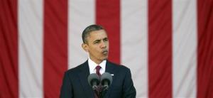 President Barack Obama speaks at the annual Veterans Day commemoration at Arlington National Cemetery in Arlington, Va., Sunday, Nov. 11, 2012.