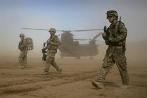 In this Saturday, Jan. 28, 2012 file photo, US soldiers are seen west of Kabul, Afghanistan.