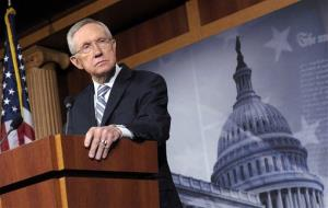 Senate Majority Leader Harry Reid of Nev. listens to a question during a news conference on Capitol Hill in Washington, Wednesday, Nov. 7, 2012.