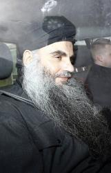 Islamic cleric Abu Qatada is driven out of Long Lartin high security prison in Worcestershire, England, after winning the latest round in his battle against deportation, Tuesday, Nov. 13, 2012.