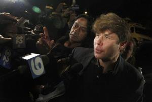 Former Illinois Gov. Rod Blagojevich departs his Chicago home for Littleton, Colo., to begin his 14-year prison sentence on corruption charges Thursday, March 15, 2012. The 55-year-old Democrat becomes the second Illinois governor in a row to go to prison for corruption.