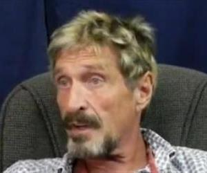 John McAfee is seen in this YouTube screenshot.