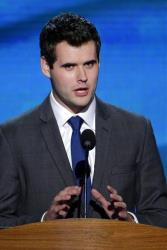 Zach Wahls addresses the Democratic National Convention in Charlotte, NC, on Thursday, Sept. 6, 2012.