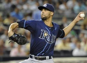 This Sept. 14 photo shows Tampa Bay Rays starting pitcher David Price throwing against the New York Yankees.
