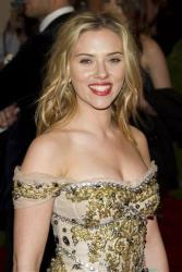 This May 7, 2012 file photo shows actress Scarlett Johansson arriving at the Metropolitan Museum of Art Costume Institute gala benefit in New York.