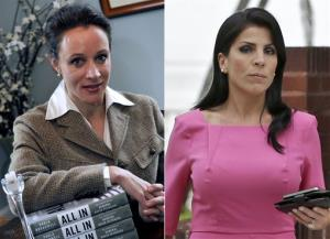 This combo made from file photos shows Paula Broadwell, left, and Florida socialite Jill Kelley.