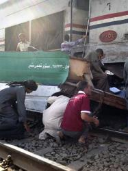 Egyptians searched for signs of their loved ones in the wreckage of a train crash near Assiut  in southern Egypt.