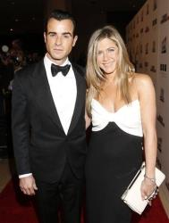 Justin Theroux and Jennifer Aniston attend the American Cinematheque 26th Annual Award Presentation To Ben Stiller 2012 at The Beverly Hilton Hotel on November 15, 2012 in Beverly Hills, California.