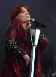 Florence Welch of Florence and the Machine performs at the Lollapalooza festival in Chicago's Grant Park on Sunday, Aug. 5, 2012.