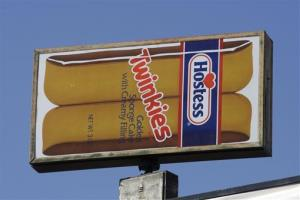 A Hostess Twinkies sign is shown at the Utah Hostess plant in Ogden, Utah, in this Nov. 15, 2012, file photo.
