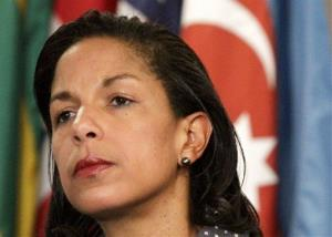This June 7, 2012 file photo shows US Ambassador to the UN Susan Rice listening during a news conference at the UN.