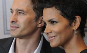 Actress Halle Berry and her fiance Olivier Martinez pose together at Variety's 4th annual Power of Women event on Friday Oct. 5, 2012, in Beverly Hills, Calif.