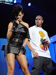 In a Dec. 12, 2008 file photo singers Rihanna and Chris Brown perform at Madison Square Garden in New York.