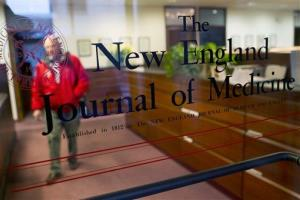 This Thursday, Dec. 29, 2011 photo shows the entrance to the editorial offices of the New England Journal of Medicine in Boston.