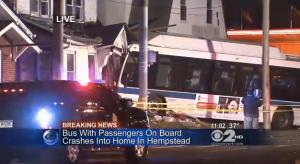 The scene from a CBS New York report.
