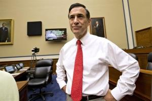 House Oversight Committee Chairman Rep. Darrell Issa arrives on Capitol Hill in Washington, Wednesday, Oct. 10, 2012.
