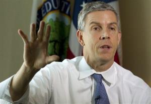 Education Secretary Arne Duncan: He's the one to replace Hillary Clinton, says Thomas Friedman.