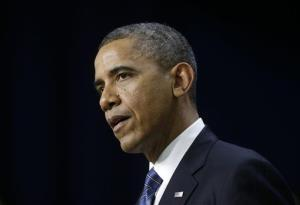 President Obama speaks in the Eisenhower Executive Office Building on the White House campus Wednesday.