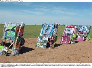 Amarillo's famous Cadillac Ranch, by Stanley Marsh 3.