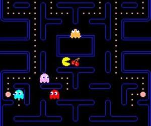 A screenshot from the first Pac-Man game.