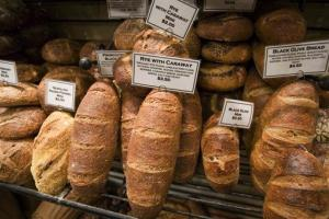Loaves of fresh bread are displayed at Amy's Bread on Thursday, Feb. 28, 2008, in New York.