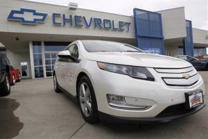 A 2012 Chevrolet Volt at a dealership in the south Denver suburb of Englewood, Colo.