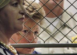 This Aug. 24 file photo shows Lois Goodman with attorney Allison Triessl, left.