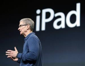Apple CEO Tim Cook speaks during an event to announce new products, including the iPad mini, in October.