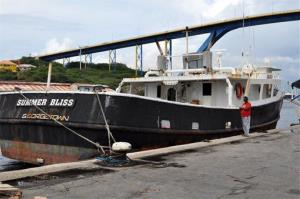 The Summer Bliss fishing boat sits docked at the Willemstad port in Curacao, Friday, Nov. 30, 2012.