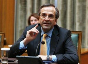 Greece's Prime Minister Antonis Samaras attends a cabinet meeting at the Greek parliament in Athens, Wednesday, Nov. 28, 2012.