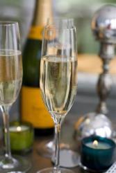 This Nov. 14, 2011 photo shows glasses of Champagne.