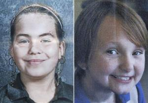 Cousins Lyric Cook-Morrissey, 10, left, and Elizabeth Collins, 8, who have been missing since Friday afternoon, July 13, 2012.