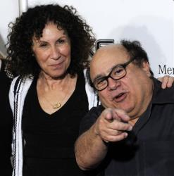 Danny DeVito and his wife Rhea Perlman pose together at the opening night of the 2008 Beverly Hills Film Festival in Beverly Hills, Calif., April 9, 2008.