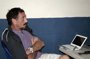In this photo released by Guatemala's Human Rights Ombudsman's office, John McAfee is pictured in an immigration detention center in Guatemala City Thursday.