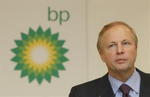 In this Tuesday, Feb. 1, 2011, file picture, BP PLC's CEO Bob Dudley pauses during a results media conference at their headquarters in London.