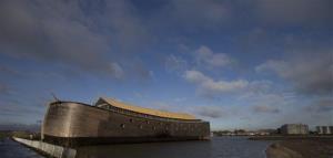 A full scale replica of Noah's Ark in seen in Dordrecht, Netherlands, Monday Dec. 10, 2012.