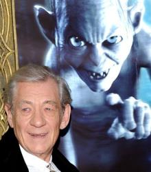 Actor Sir Ian McKellen attends the premiere of The Hobbit: An Unexpected Journey at the Ziegfeld Theatre on Thursday Dec. 6, 2012 in New York.